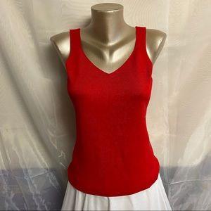 Tops - 🆕 Biline red knit tank top